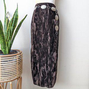 Double D Ranch Wrap Maxi Skirt Velvet S